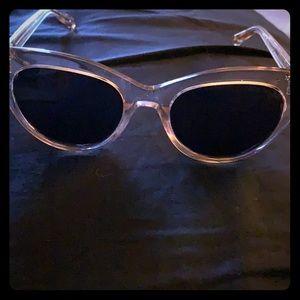 Warby Parker Tilley grapefruit soda sunglasses